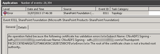 How to renew your ADFS 2 0 token signing certificate in SharePoint