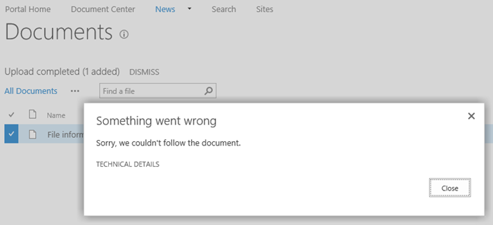 Solving site and document follow issues in SharePoint 2013